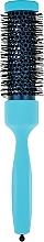 Парфумерія, косметика Брашинг з професійним термостійким нейлоном d 32,5 mm, блакитний - 3ME Maestri
