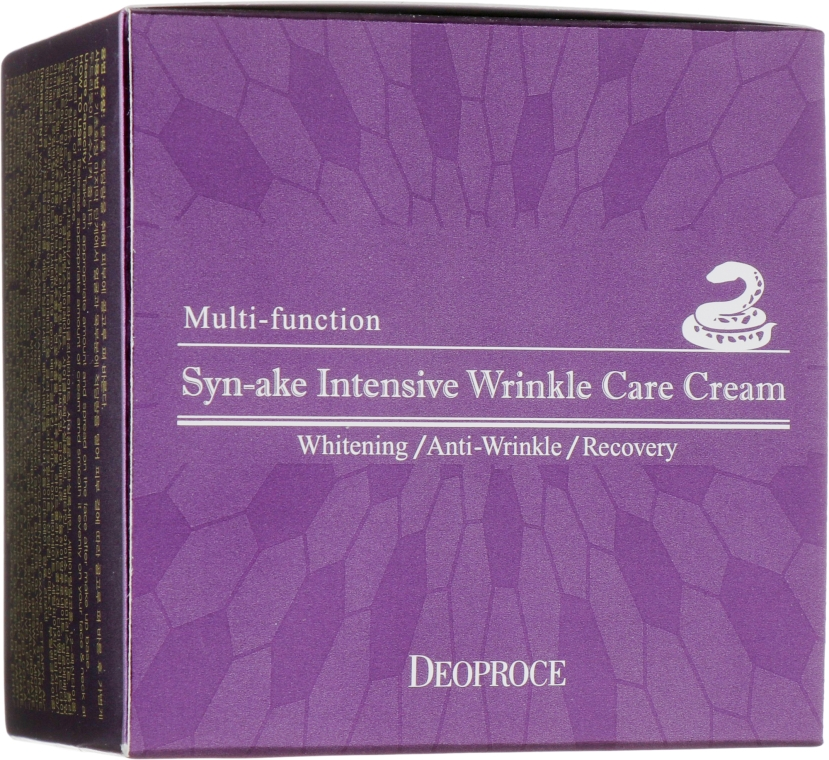 Крем для лица со змеиным ядом - Deoproce Syn-Ake Intensive Wrinkle Care Cream
