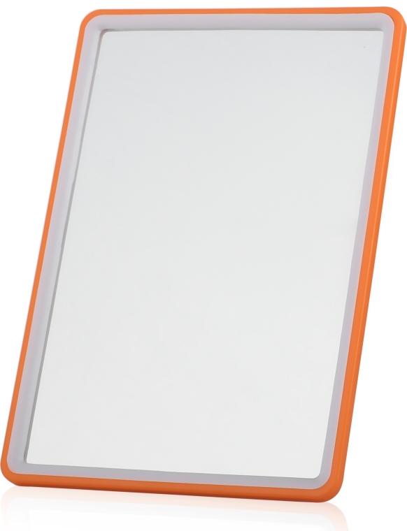 Косметическое зеркало в раме 13х19 см, оранжевое - Titania