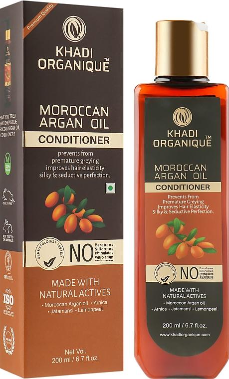 """Натуральный безсульфатный бальзам """"Марроканское аргановое масло"""" - Khadi Organique Moroccan Argan Hair Conditioner"""