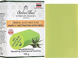 Духи, Парфюмерия, косметика Мыло с экстрактом алоэ вера - Sabai Thai Herbal Aloe Vera Soap