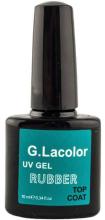 Духи, Парфюмерия, косметика Закрепитель для гель-лака каучуковый - G. Lacolor Top Coat UV Gel Rubber