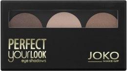 Духи, Парфюмерия, косметика Тени для век трехцветные - Joko Perfect Your Look Trio Eye Shadows