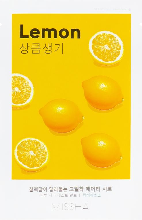 Маска для лица с экстрактом лимона - Missha Airy Fit Lemon Sheet Mask