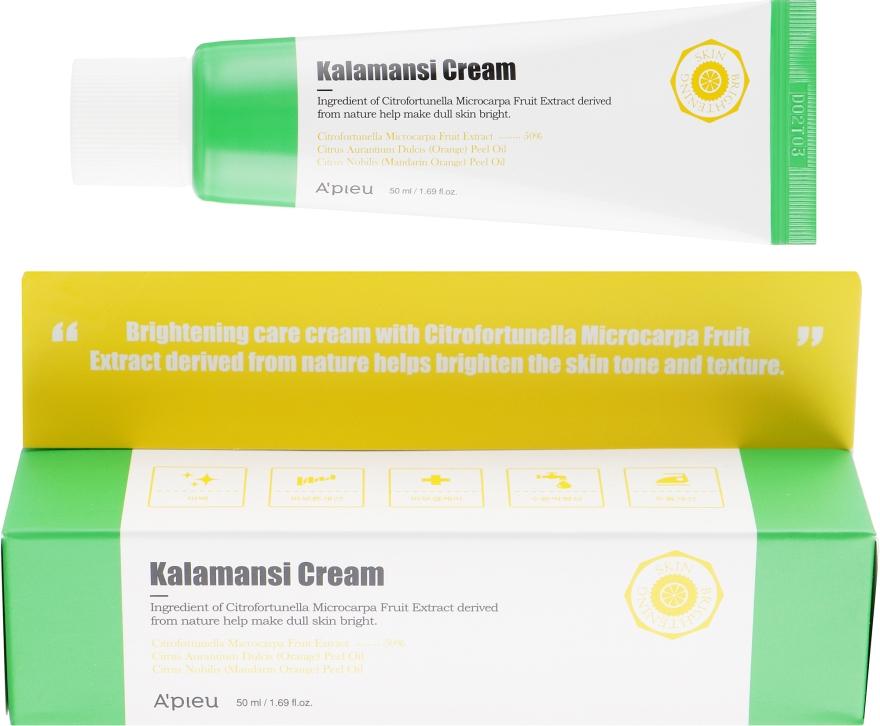 Осветляющий крем для лица с экстрактом каламанси - A'pieu Kalamansi Cream
