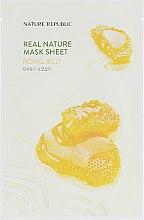 Духи, Парфюмерия, косметика Тканевая маска для лица с экстрактом пчелиного маточного молочка - Nature Republic Real Nature Mask Sheet Royal Jelly