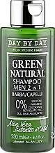 Духи, Парфюмерия, косметика Шампунь мужской 2в1 для бороды и волос с алоэ вера и экстрактом кофе - Alan Jey Green Natural Shampoo 2in1