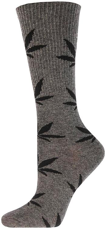 """Носки высокие для женщин """"wrl-001"""" melange dark grey/nero - Giulia"""