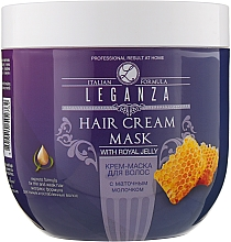 Духи, Парфюмерия, косметика Крем-маска для волос с маточным молочком - Leganza Cream Hair Mask With Royal Jelly (без дозатора)