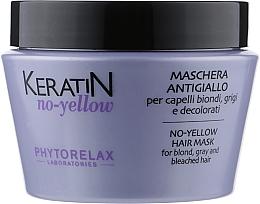 Духи, Парфюмерия, косметика Антижелтая маска для светлых волос - Phytorelax Laboratories Keratin No-Yellow Hair Mask