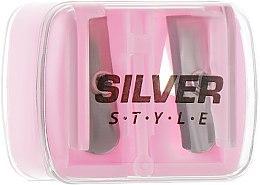 Парфумерія, косметика Точилка подвійна для олівців, рожева - Silver Style