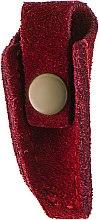 Парфумерія, косметика Чохол для кусачок на кнопці, бордовий - Staleks