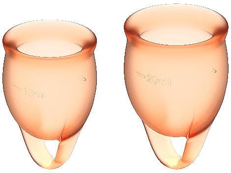 Набор менструальных чаш, оранжевый - Satisfyer Feel Confident Menstrual Cups Orange