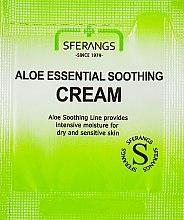 Духи, Парфюмерия, косметика Крем для лица с алоэ, успокаивающий - Sferangs Aloe Essential Soothing Cream (пробник)