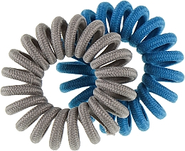 Духи, Парфюмерия, косметика Резинки для волос, 414580, серая + синяя - Glamour