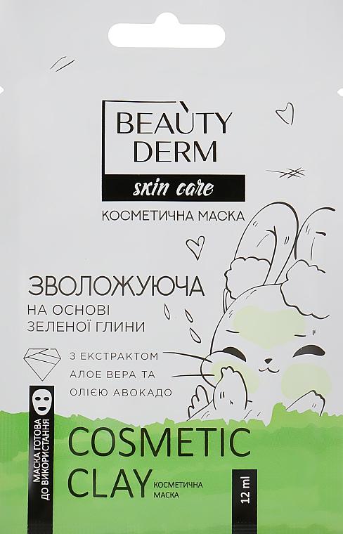 """Косметическая маска для лица """"Увлажняющая"""" на основе зеленой глины - Beauty Derm Skin Care Cosmetic Clay"""