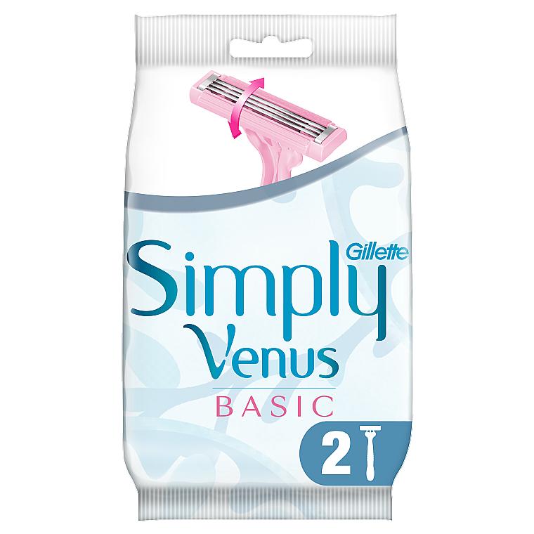 Одноразовые бритвенные станки - Gillette Simply Venus 3 Basic