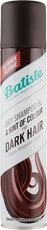 Сухой шампунь - Batiste Dry Shampoo Dark and Deep Brown a Hint of Color
