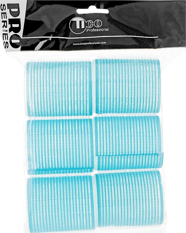 Бигуди липучки d50 мм, голубые - Tico Professional