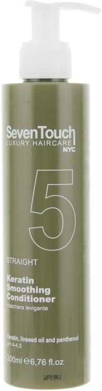 Маска для выравнивания и разглаживания волос (кератиновое выравнивание) - Punti di Vista Seven Touch Luxury 5 Keratin Smoothing Conditioner