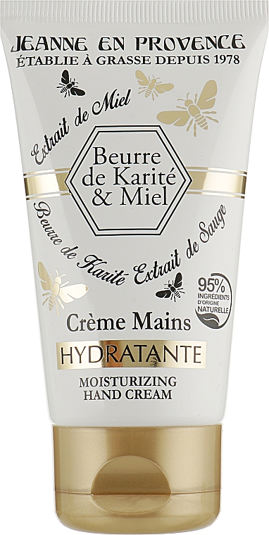 Відновлюючий крем для рук - Jeanne en Provence de Beurre Karite & Miel Hands Сгеам — фото N1