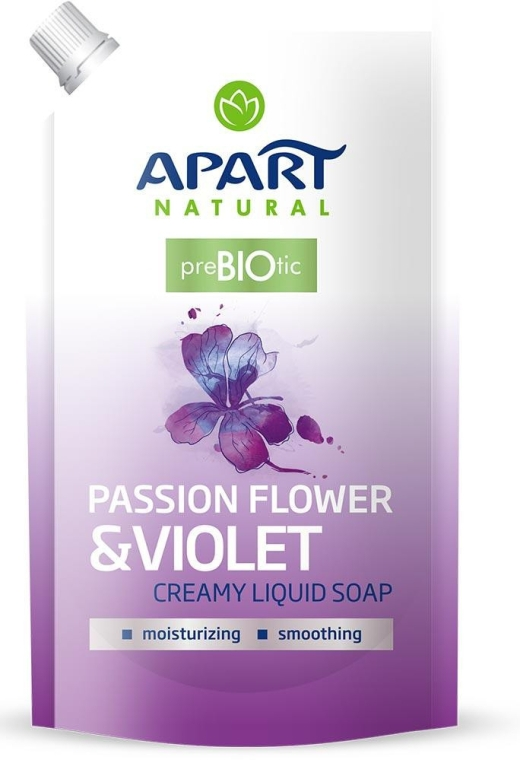 """Жидкое крем-мыло """"Цветок страсти и фиалка"""" - Apart Natural Passion Flower & Violet Soap (дой-пак)"""