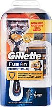 Бритва с 4 сменными кассетами - Gillette Fusion Proshield — фото N1