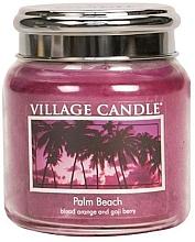 "Духи, Парфюмерия, косметика Ароматическая свеча в банке ""Палм-Бич"" - Village Candle Palm Beach"
