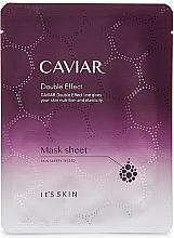 Духи, Парфюмерия, косметика Тканевая маска для лица антивозрастная - It's skin Caviar Double Effect Mask Sheet