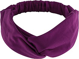 "Духи, Парфюмерия, косметика Повязка на голову, трикотаж переплет, фиолетовая ""Knit Twist"" - MakeUp Hair Accessories"