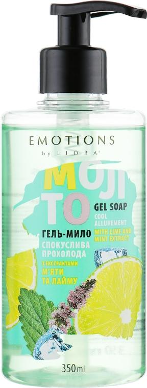 """Гель-мыло """"Соблазнительная прохлада"""" с экстрактом мяты и лайма - Liora Emotions Cool Allurement Gel Soap"""