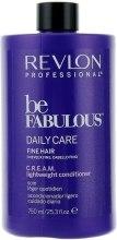 Духи, Парфюмерия, косметика Кондиционер для тонких волос - Revlon Professional Be Fabulous C.R.E.A.M. Lightweight Conditioner