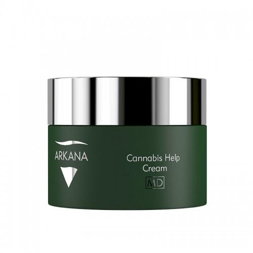 Восстанавливающий крем с маслами конопли и мака для чувствительной кожи - Arkana Cannabis Help Cream
