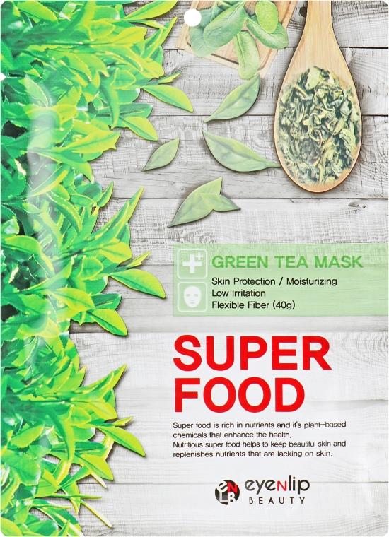 "Тканевая маска для лица ""Зеленый чай"" - Eyenlip Super Food Green Tea Mask"