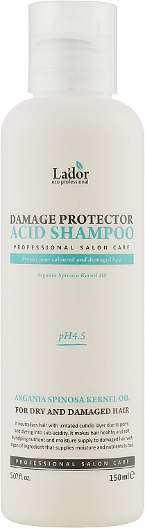 Бесщелочной шампунь с pH 4.5 - La'dor Damage Protector Acid Shampoo