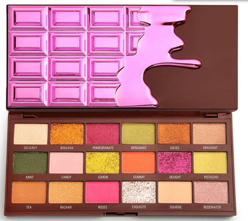 Палетка теней для век - I Heart Revolution Eyeshadow Chocolate Palette Turkish Delight