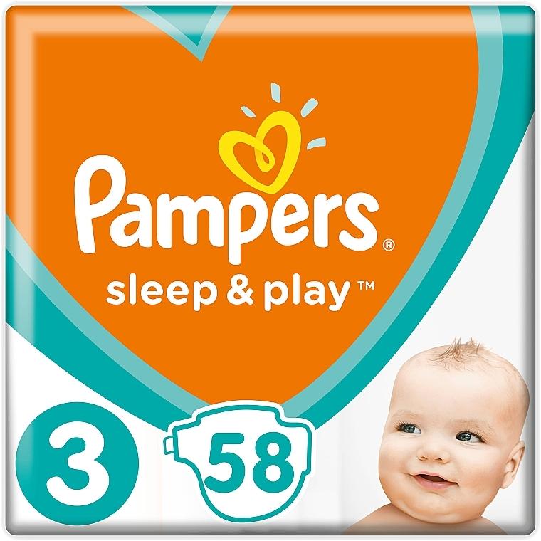 Подгузники Sleep & Play Размер 3 (Midi) 6-10 кг, Эконом 58шт - Pampers