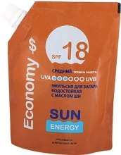 Духи, Парфюмерия, косметика Эмульсия для загара с маслом ши водостойкая - Sun Energy SPF 18