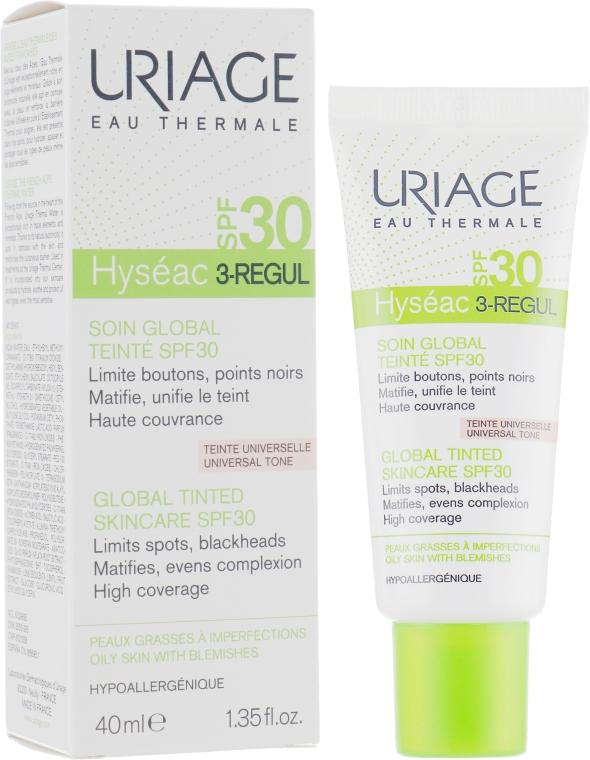 Тональный универсальный уход - Uriage Hyséac 3-Regul Global Tinted Skincare SPF30