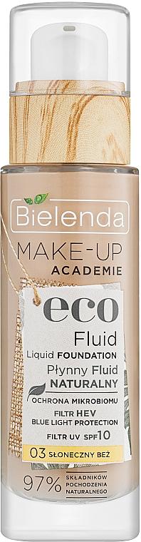 Жидкий тональный флюид - Bielenda Eco Fluid Liquid Foudation SPF 10