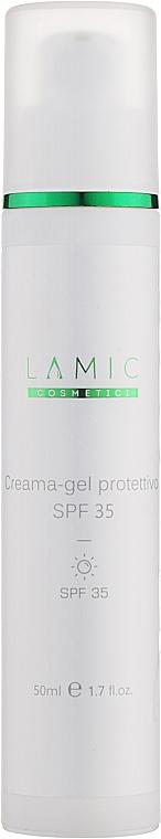 Защитный крем-гель для лица с SPF 35 - Lamic Cosmetici Creama-gel Protettivo