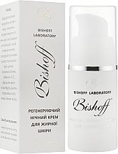 Духи, Парфюмерия, косметика Регенерирующий ночной крем для жирной кожи - Bishoff