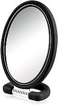 Духи, Парфюмерия, косметика Зеркало косметическое 9510, овальное, двухстороннее, 22.5 см, черное - Donegal Mirror