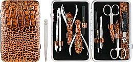 Духи, Парфюмерия, косметика Маникюрный набор MSFE-804-1new SM, лаковый, бронзовый - Zinger