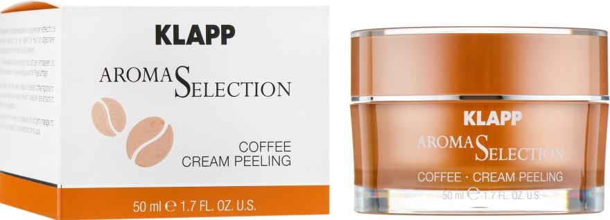 """Кремовая пилинговая маска """"Кава"""" - Klapp Aroma Selection Coffee Cream Peeling"""