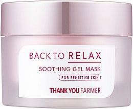 Духи, Парфюмерия, косметика Смягчающая гель-маска для чувствительной кожи - Thank You Farmer Back To Relax Soothing Gel Mask
