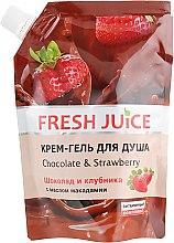 """Духи, Парфюмерия, косметика Крем-гель для душа """"Шоколад и Клубника"""" - Fresh Juice Love Attraction Chocolate & Strawberry(дой-пак)"""