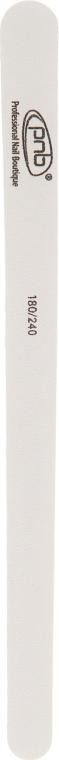 Пилка для ногтей 180/240 White Wood, прямая узкая - PNB