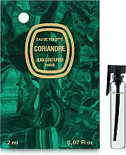 Духи, Парфюмерия, косметика Jean Couturier Coriandre - Туалетная вода (пробник)