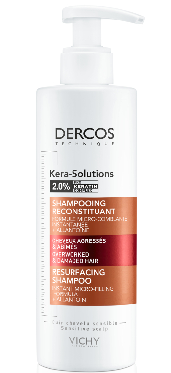 Шампунь для реконструкции поверхности поврежденных ослабленных волос - Vichy Dercos Kera-Solutions Resurfacing Shampoo